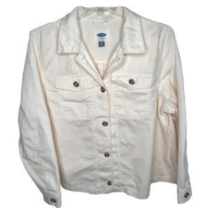 Old Navy Twill Utility Swing Jacket Button Front
